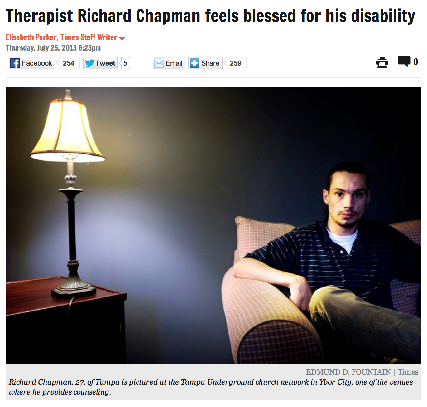 Introducing Richard Chapman, M.A., An Amazing Self-Advocate Specialist