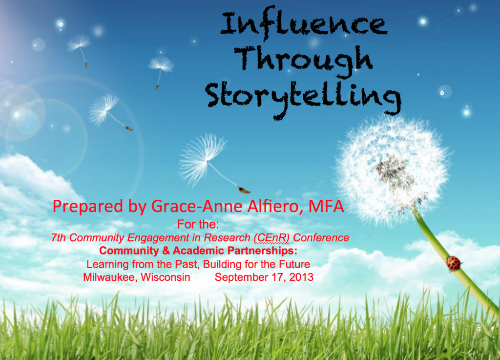 Influence thru Storytelling