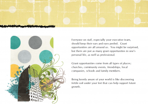 A page from my new eBook, A Visual Guide To a Team Grant Writing Process