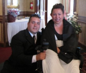 Tricia and Marshall at their wedding in 2004